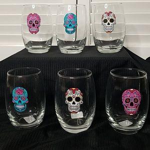 Other - Skull design Stemless Wine glasses💀🎃